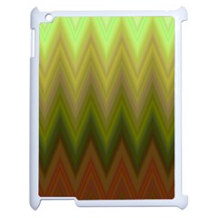 Zig Zag Chevron Classic Pattern Apple Ipad 2 Case (white) by Nexatart