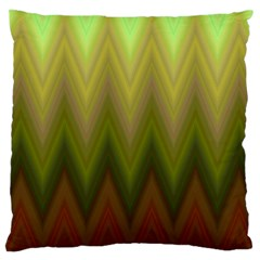 Zig Zag Chevron Classic Pattern Large Cushion Case (two Sides) by Nexatart
