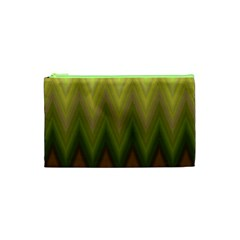 Zig Zag Chevron Classic Pattern Cosmetic Bag (xs)