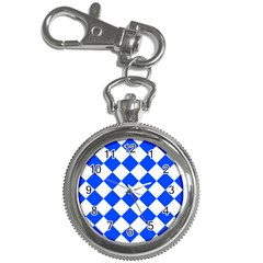 Blue White Diamonds Seamless Key Chain Watches