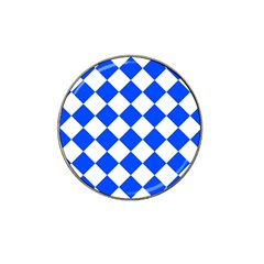 Blue White Diamonds Seamless Hat Clip Ball Marker (4 Pack)
