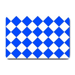 Blue White Diamonds Seamless Small Doormat