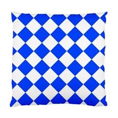 Blue White Diamonds Seamless Standard Cushion Case (one Side) by Nexatart