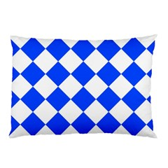 Blue White Diamonds Seamless Pillow Case