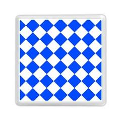 Blue White Diamonds Seamless Memory Card Reader (square)