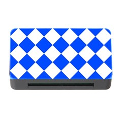Blue White Diamonds Seamless Memory Card Reader With Cf