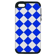 Blue White Diamonds Seamless Apple Iphone 5 Hardshell Case (pc+silicone)