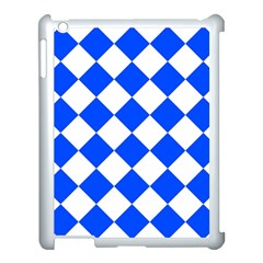 Blue White Diamonds Seamless Apple Ipad 3/4 Case (white) by Nexatart