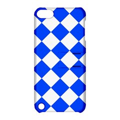 Blue White Diamonds Seamless Apple Ipod Touch 5 Hardshell Case With Stand