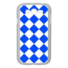 Blue White Diamonds Seamless Samsung Galaxy Grand Duos I9082 Case (white) by Nexatart