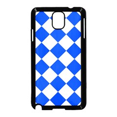 Blue White Diamonds Seamless Samsung Galaxy Note 3 Neo Hardshell Case (black)