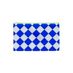 Blue White Diamonds Seamless Cosmetic Bag (xs)