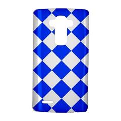 Blue White Diamonds Seamless Lg G4 Hardshell Case by Nexatart