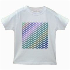Zigzag Line Pattern Zig Zag Kids White T Shirts by Nexatart