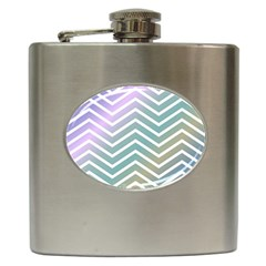 Zigzag Line Pattern Zig Zag Hip Flask (6 Oz) by Nexatart