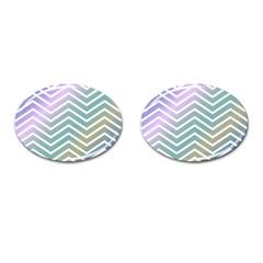 Zigzag Line Pattern Zig Zag Cufflinks (oval) by Nexatart