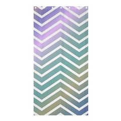 Zigzag Line Pattern Zig Zag Shower Curtain 36  X 72  (stall)