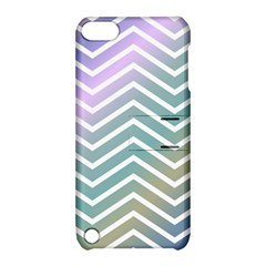 Zigzag Line Pattern Zig Zag Apple Ipod Touch 5 Hardshell Case With Stand
