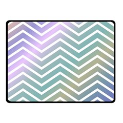 Zigzag Line Pattern Zig Zag Double Sided Fleece Blanket (small)