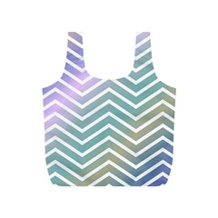 Zigzag Line Pattern Zig Zag Full Print Recycle Bags (s)