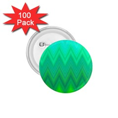 Green Zig Zag Chevron Classic Pattern 1 75  Buttons (100 Pack)