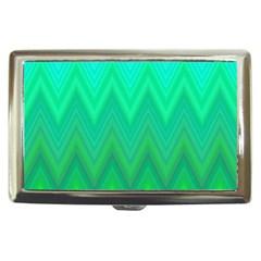 Green Zig Zag Chevron Classic Pattern Cigarette Money Cases