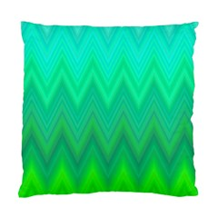 Green Zig Zag Chevron Classic Pattern Standard Cushion Case (one Side)
