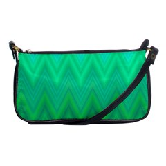 Green Zig Zag Chevron Classic Pattern Shoulder Clutch Bags