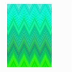 Green Zig Zag Chevron Classic Pattern Large Garden Flag (two Sides) by Nexatart