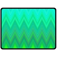 Green Zig Zag Chevron Classic Pattern Double Sided Fleece Blanket (large)