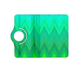 Green Zig Zag Chevron Classic Pattern Kindle Fire Hd (2013) Flip 360 Case by Nexatart