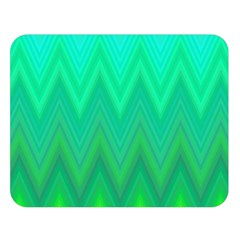 Green Zig Zag Chevron Classic Pattern Double Sided Flano Blanket (large)