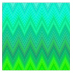 Green Zig Zag Chevron Classic Pattern Large Satin Scarf (square)