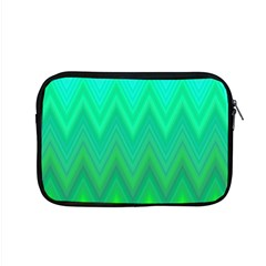 Green Zig Zag Chevron Classic Pattern Apple Macbook Pro 15  Zipper Case by Nexatart