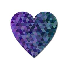 Triangle Tile Mosaic Pattern Heart Magnet