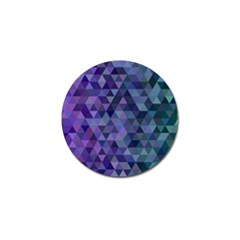 Triangle Tile Mosaic Pattern Golf Ball Marker (4 Pack) by Nexatart
