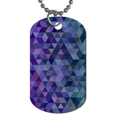 Triangle Tile Mosaic Pattern Dog Tag (two Sides) by Nexatart