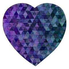 Triangle Tile Mosaic Pattern Jigsaw Puzzle (heart) by Nexatart