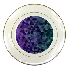 Triangle Tile Mosaic Pattern Porcelain Plates by Nexatart