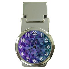 Triangle Tile Mosaic Pattern Money Clip Watches by Nexatart