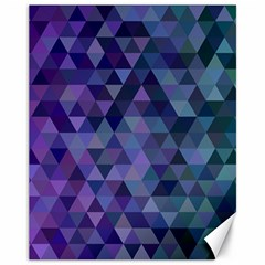 Triangle Tile Mosaic Pattern Canvas 11  X 14