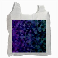 Triangle Tile Mosaic Pattern Recycle Bag (one Side) by Nexatart