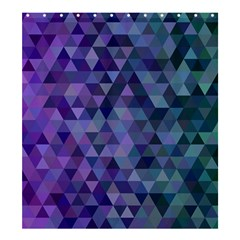 Triangle Tile Mosaic Pattern Shower Curtain 66  X 72  (large)  by Nexatart