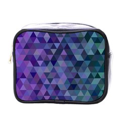 Triangle Tile Mosaic Pattern Mini Toiletries Bags