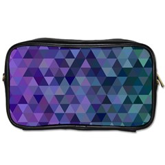 Triangle Tile Mosaic Pattern Toiletries Bags 2 Side