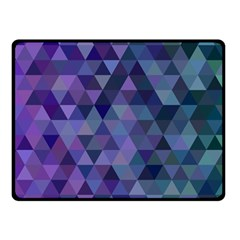Triangle Tile Mosaic Pattern Fleece Blanket (small) by Nexatart