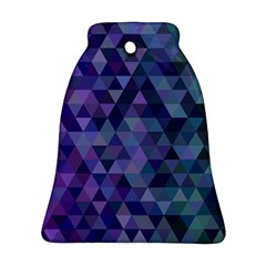 Triangle Tile Mosaic Pattern Bell Ornament (two Sides) by Nexatart