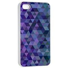 Triangle Tile Mosaic Pattern Apple Iphone 4/4s Seamless Case (white)