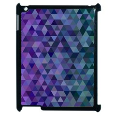 Triangle Tile Mosaic Pattern Apple Ipad 2 Case (black)
