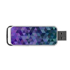 Triangle Tile Mosaic Pattern Portable Usb Flash (two Sides)